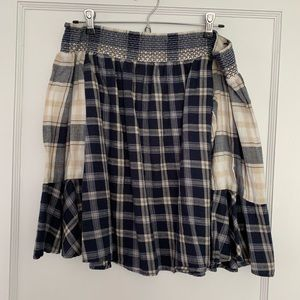 LOFT flannel off the shoulder shirt